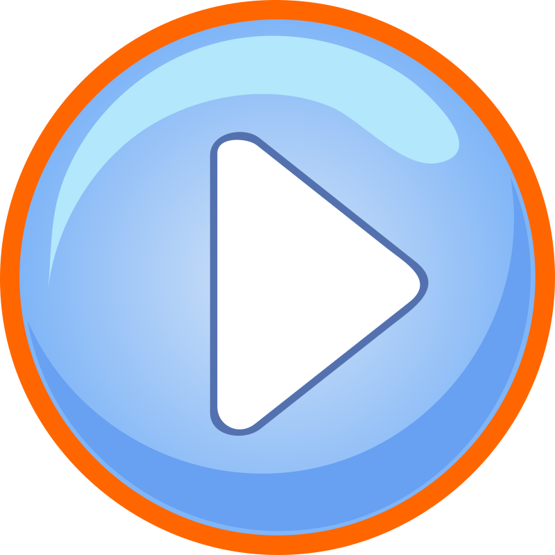 Blue Play Button With Focus by GR8DAN