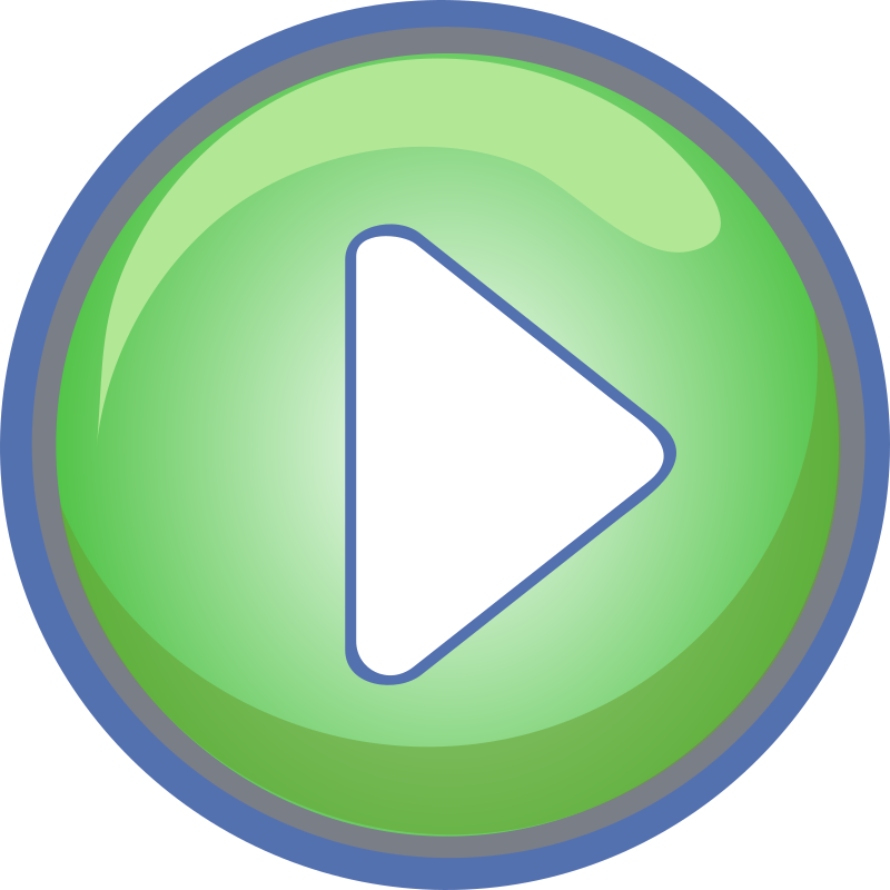 Play Button Green with Blue Border by GR8DAN