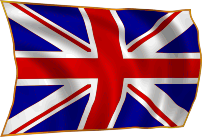 Union Flag fluttering in breeze by gooBall - A Union Flag fluttering in the breeze.