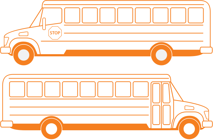 School Busses by bnsonger47 - Left and right side views of a school bus. Done in a style of a collection of vehicles available here.