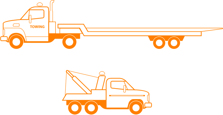 Tow Trucks by bnsonger47 - Two different tow trucks done in a similar style to others in a collection available at this site.