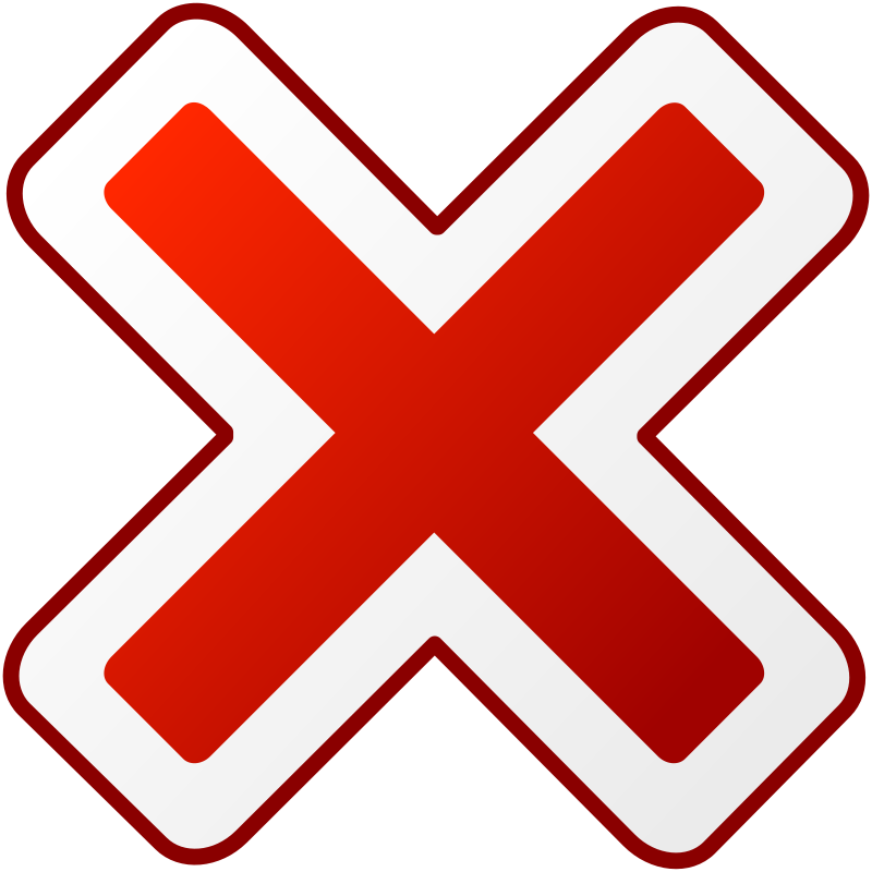 cancel by dagobert83 - A red cancel icon