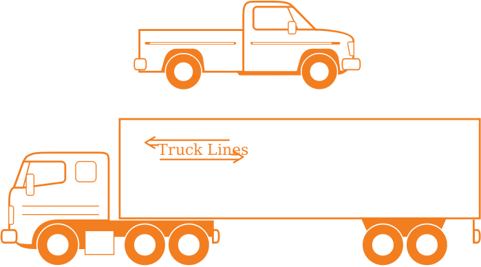 clipart semi and pickup trucks. Black Bedroom Furniture Sets. Home Design Ideas
