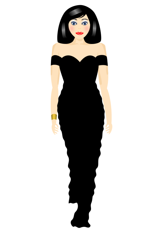 Stylish in black by Artmaker - Woman showing off pretty black dress