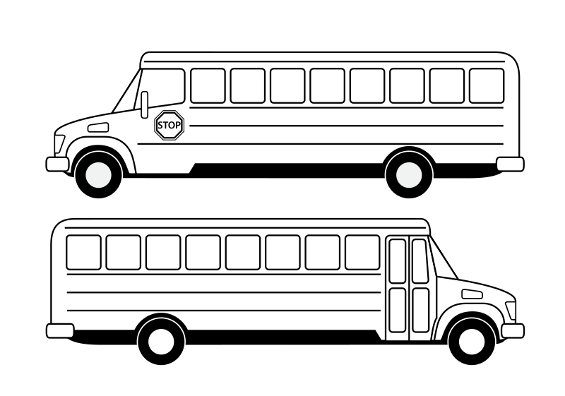 Deux bus scolaires noirs by cyrille