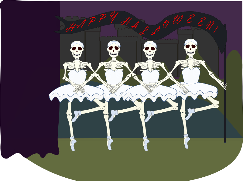 happy halloween by OlKu - Skeleton dance group