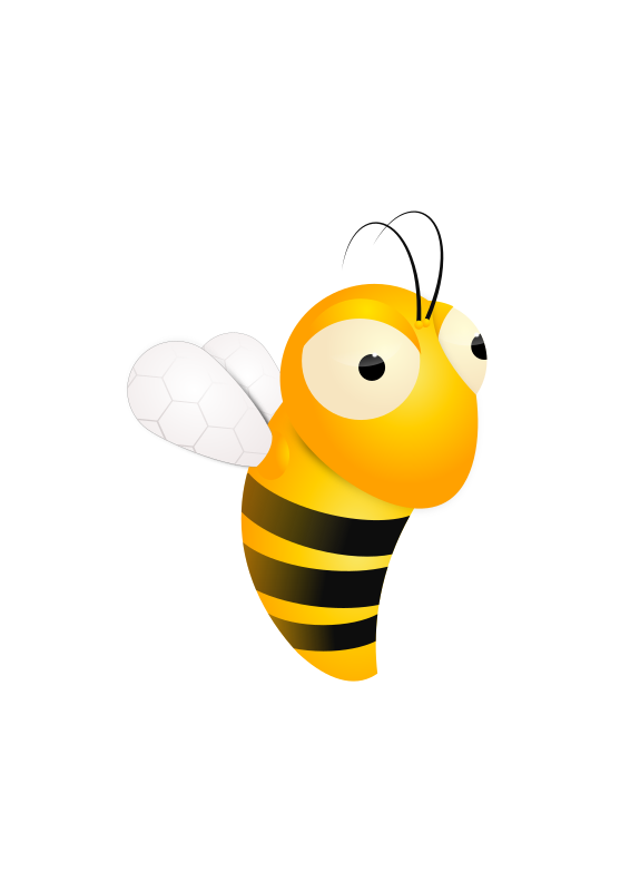 Bee by redbask - created in inkscape