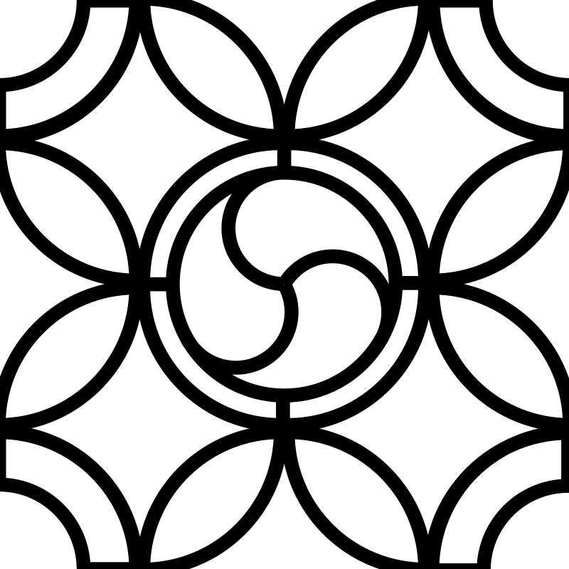 Triskell Leaded Glass base by picapica - triskell pattern