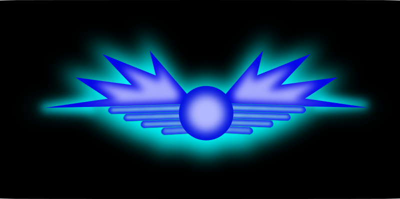 Glowing Wing Symbol by mystica - A Glowing wing symbol... there is also an wallpaper version (jpg) (1024*768)  ... enjoy!   :-)