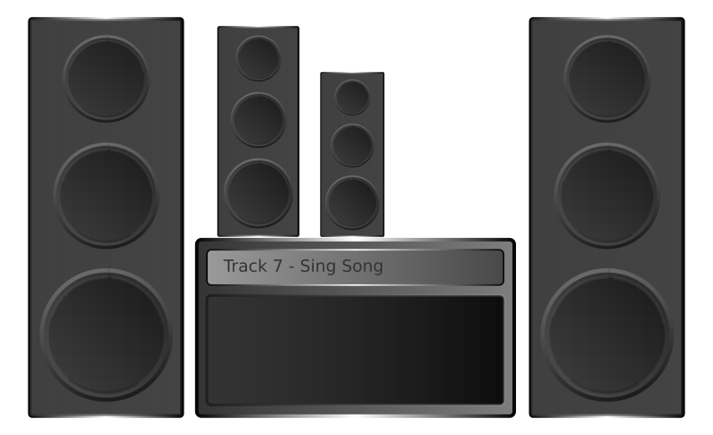 Hi-fi Stereo by Aquila - This is a small stereo hi-fi I made in Inkscape.