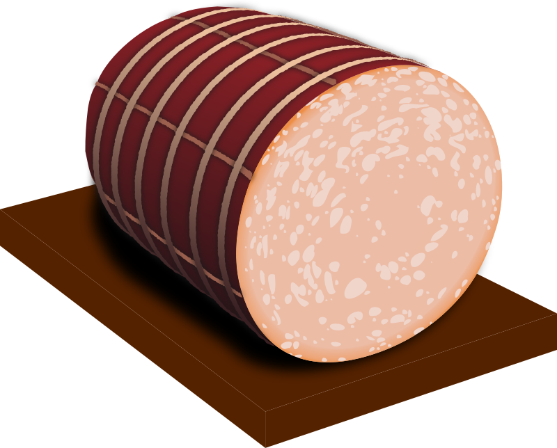 mortadella by picapica - Italian sausage typical of the Emilia Romagna region, specifically the type name is Mortadella Bologna