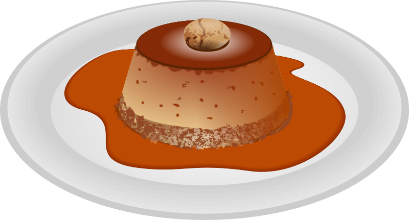 bunet by picapica - desserts typical of Turin, a kind of crème caramel with amaretto