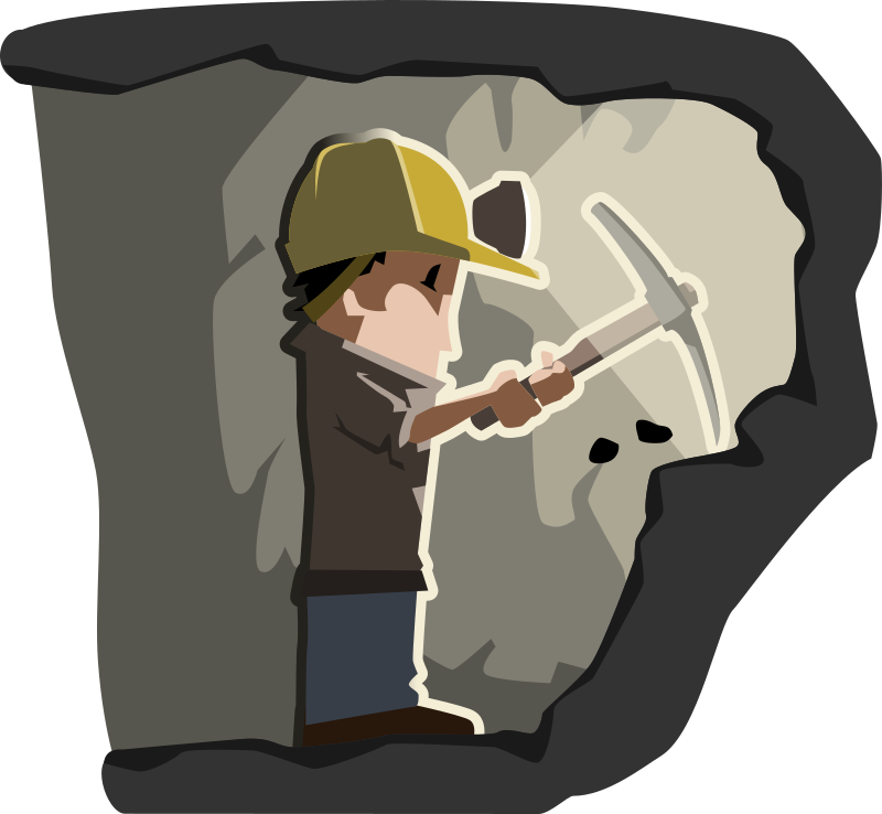 miner by tzunghaor - Cartoonish figure of miner at work