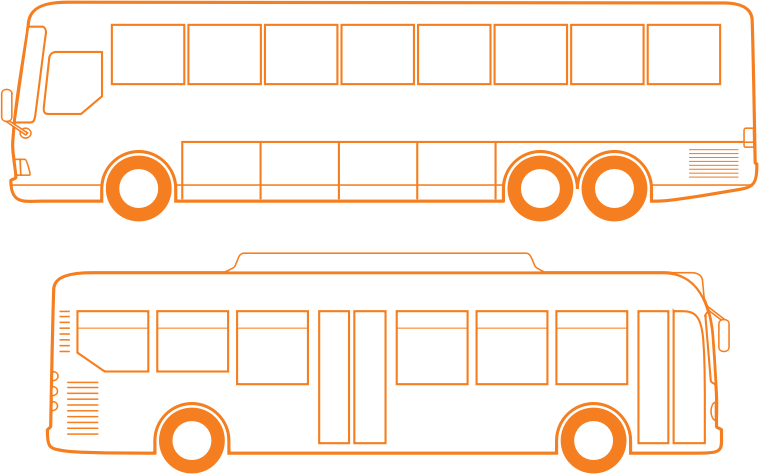 Country and City Busses by bnsonger47 - Two different busses done in a similar style to drawings uploaded by the creator. Other vehicles are available at this site.