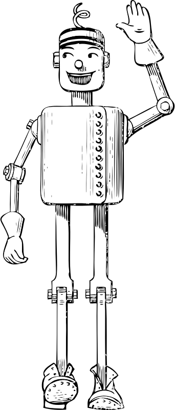 mechanical man by johnny_automatic - a 1940 era mechanical man or robot from a U.S. patent drawing