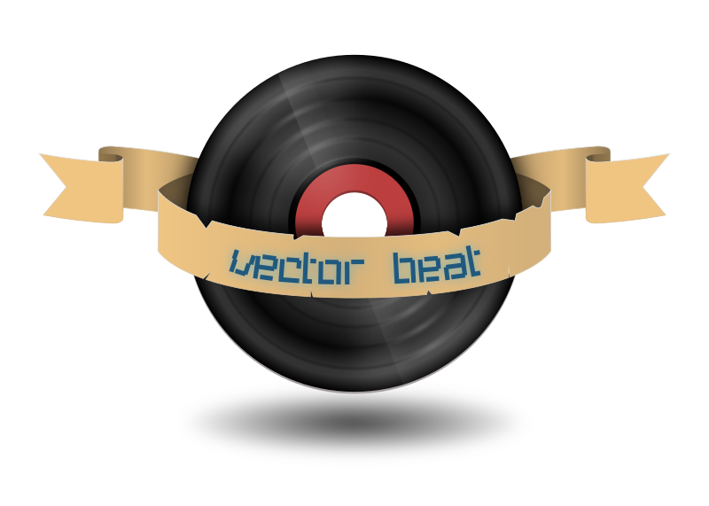 vector beat records by ufo_web_factory