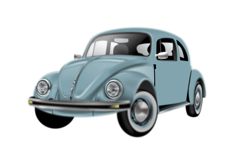 Uncomplete realistic car by Rasmussen - VW Beetle