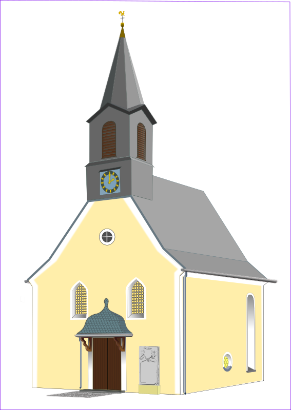 village church by Helm42 - This church is standing in the Bavarian village Doehlau. It is drawn from a photo. .