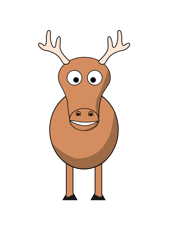 cartoon reindeer by evilestmark - Tried to make a cartoon reindeer in vein of all the other animals.  It turned out... okay.  Hopefully someone else can improve it.