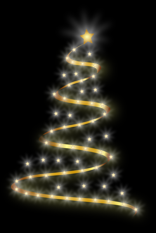 Modern Christmas Tree 4 by Merlin2525 - A revamped version of the modern Christmas Tree. Added a more realistic effect by adding more lights and more sparkle. The Png preview does not show the top star, but it does render it correctly when clicking the PNG button. Enjoy!
