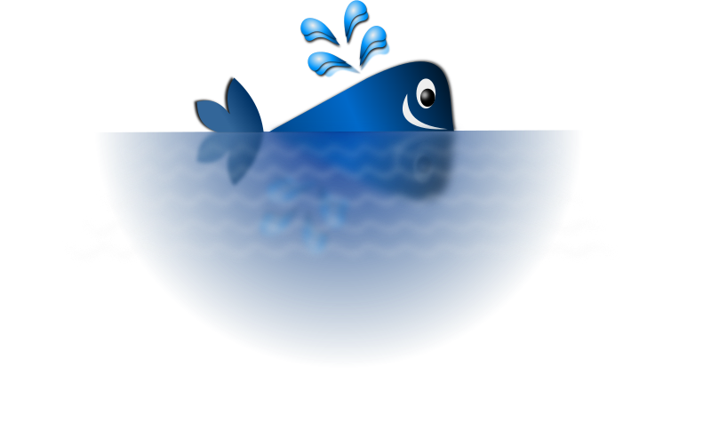 Happy Blue Whale by Merlin2525 - A happy blue whale, drawn in a style reminiscent of children bedtime story books. The ocean fades into white in  a circular, pattern. Someone can add binocular effects to give the impression someone is looking at the whale from a distance.