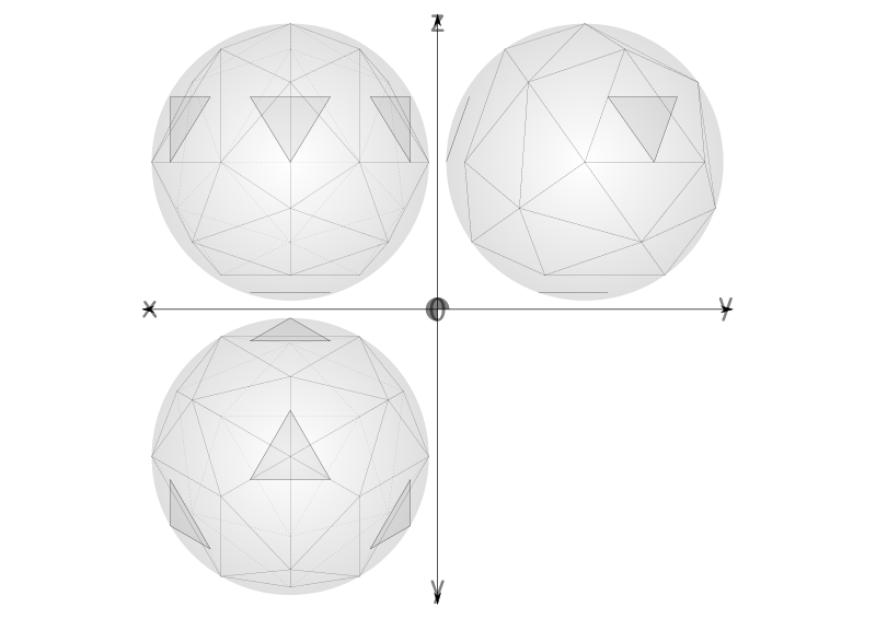 40 construction geodesic spheres recursive from tetrahedron by ric5sch