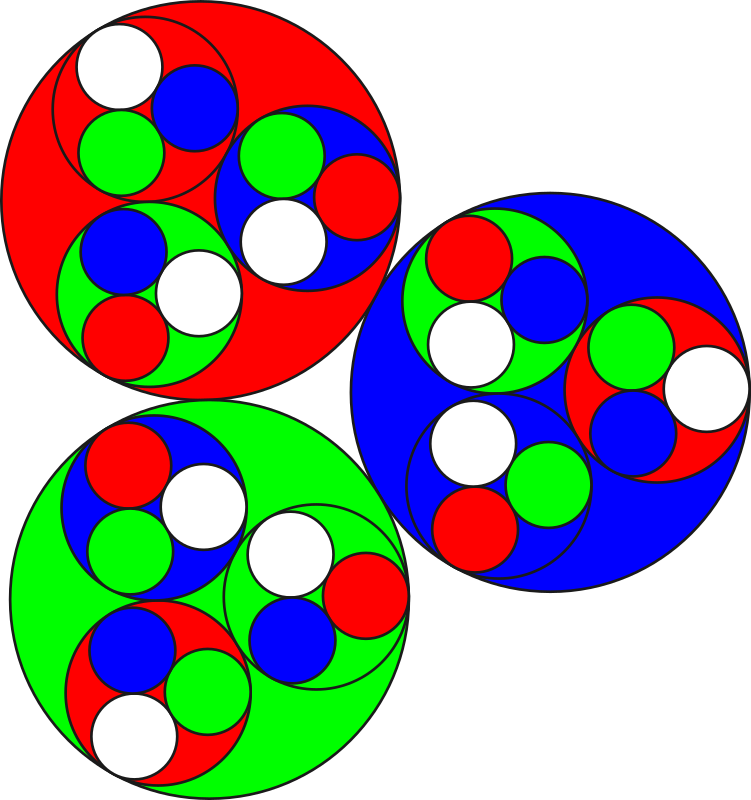 Rouge vert bleu by mathafix - Cercles rouges, verts et bleus.