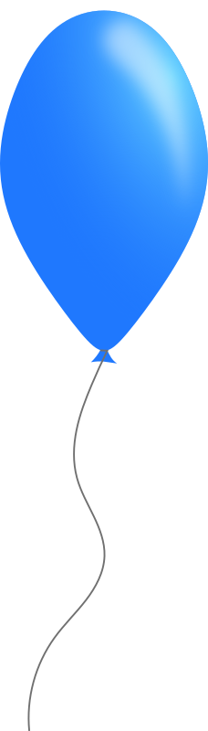 Blue balloon by Caig - A simple blue balloon