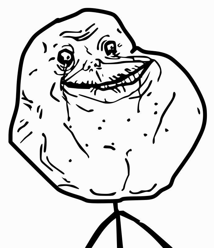 Forever Alone by Ramchand - Traced In Inkscape