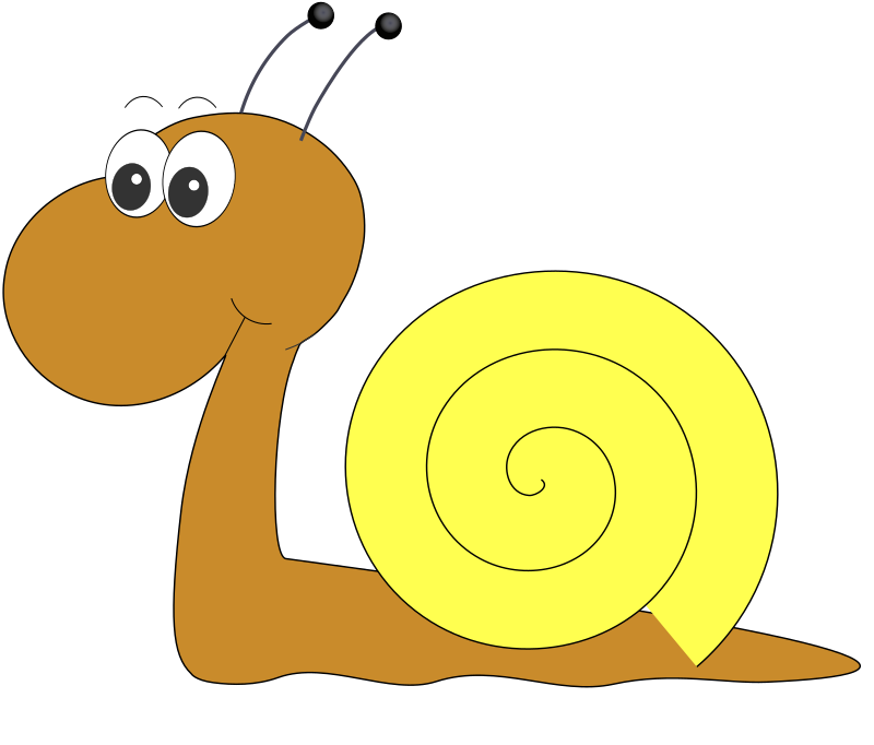 Schnecke by DoppelG - A clipart of a snail