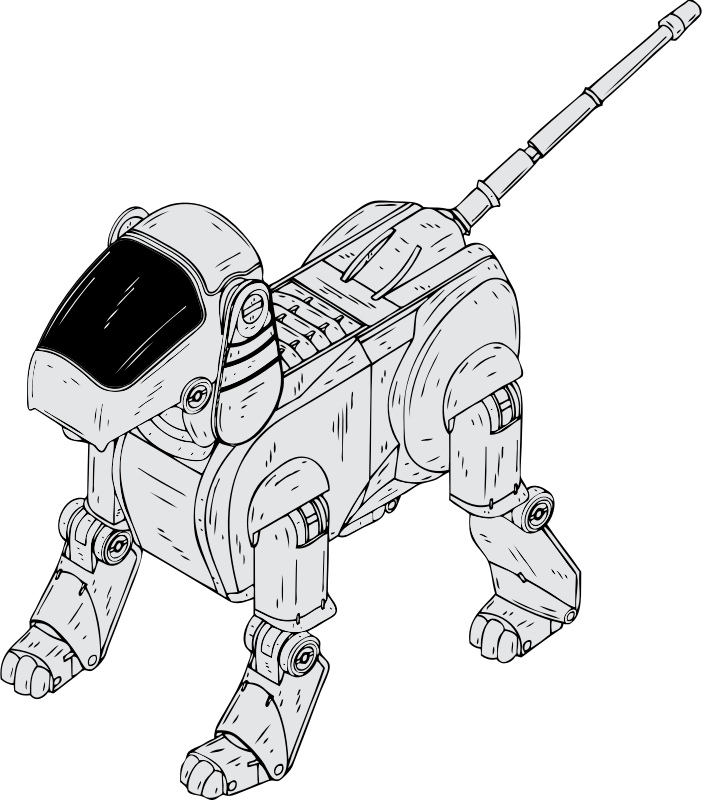 robot dog by johnny_automatic - a robotic dog toy from a U.S. patent drawing