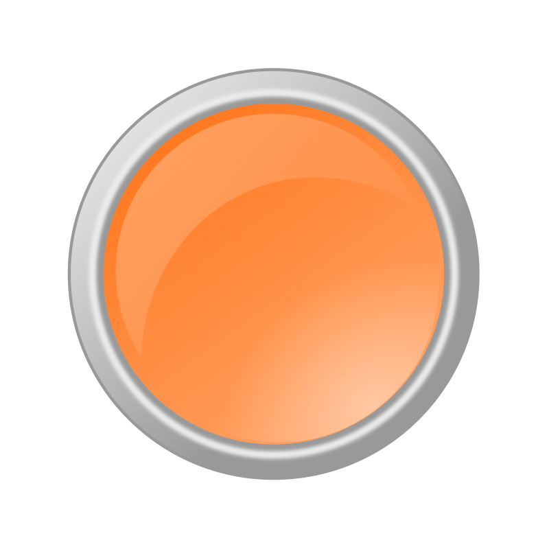 Clipart Glossy Light Orange Button