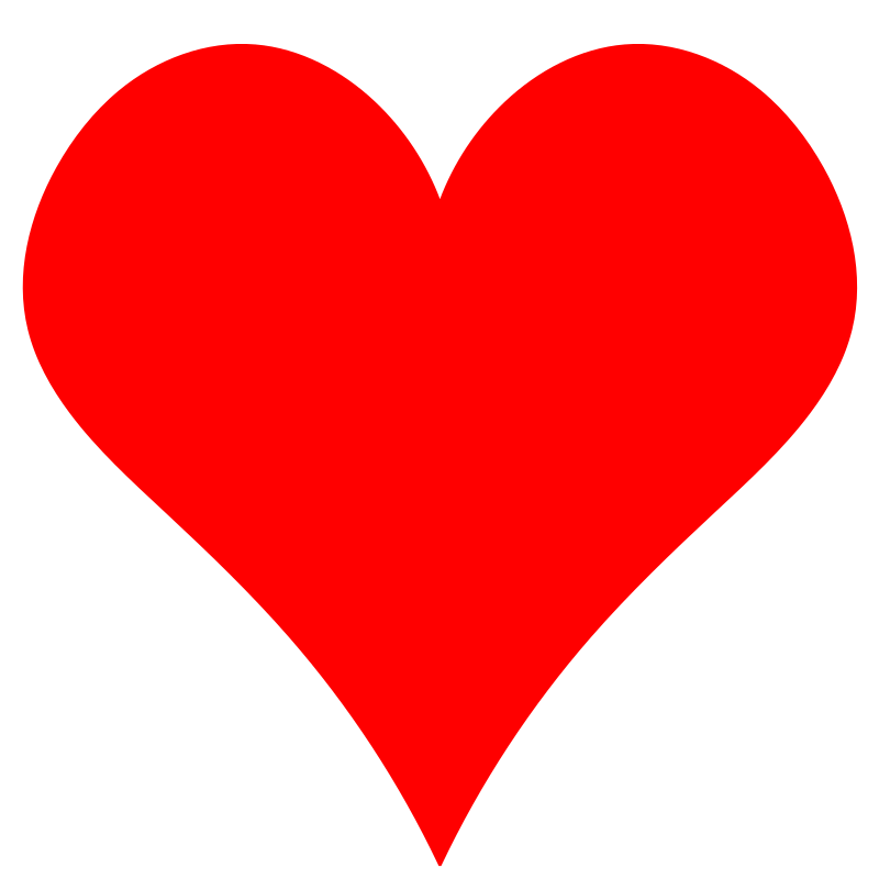 Clipart - Plain Red Heart Shape