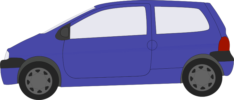 twingo by technoargia - A blue car.