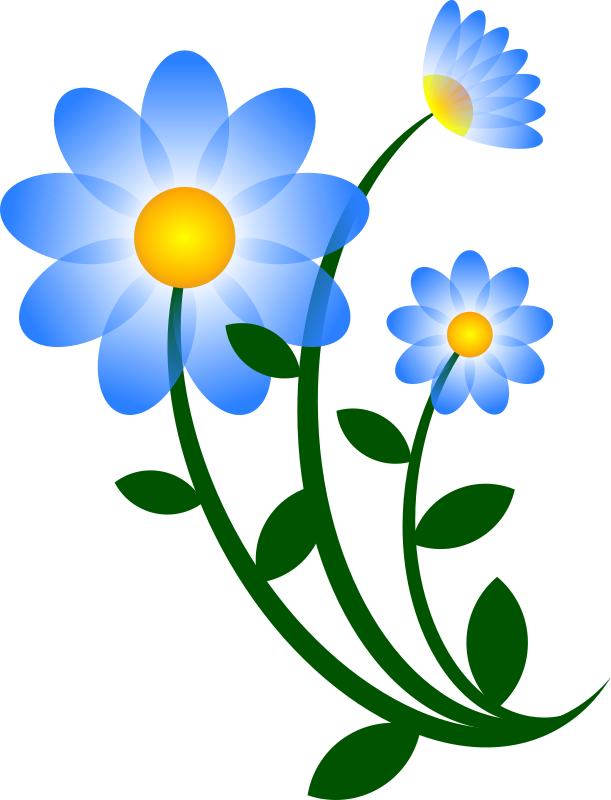 Blue Flower Motif by worker - small changes