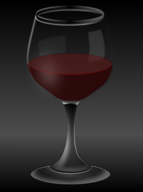 Vin Rouge by PomPrint - A moody glass of red wine.
