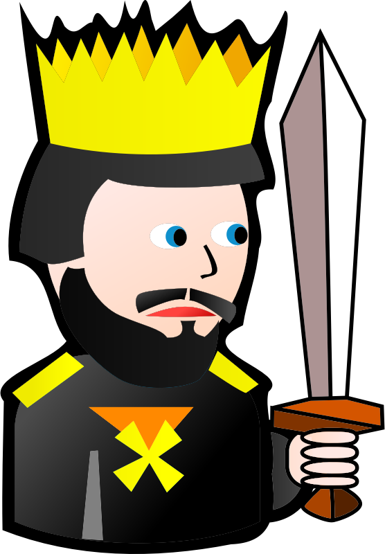 Clipart - King of Spades