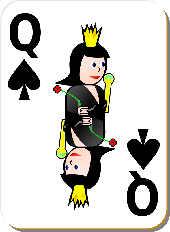 White Deck: Queen of Spades by seanujones - queen of spades card