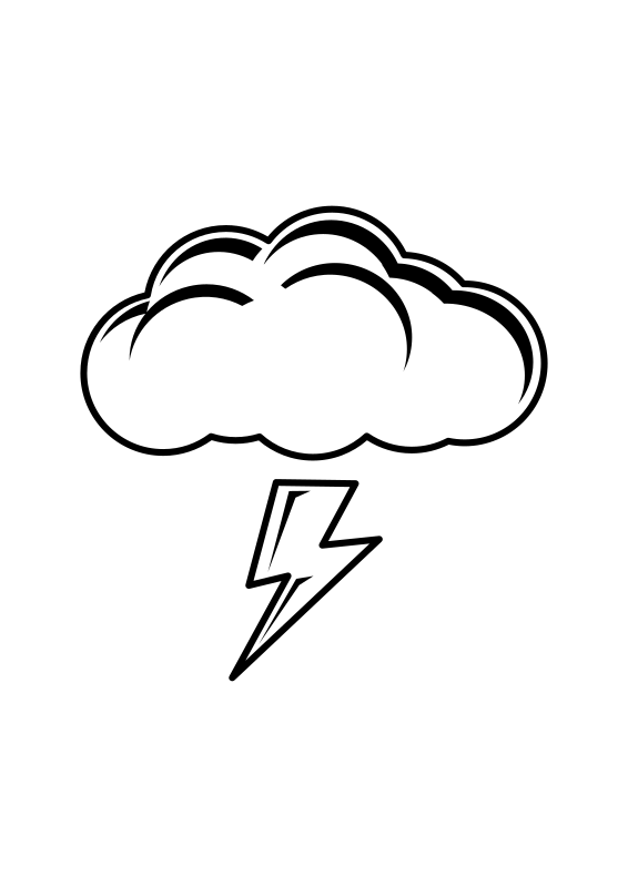 Thundercloud Black & White by halattas - lineart sign for thundercloud