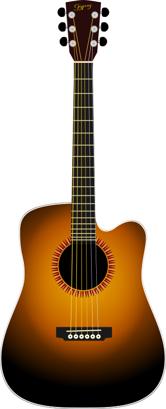 cutaway by narrowhouse - A cutaway acoustic guitar.