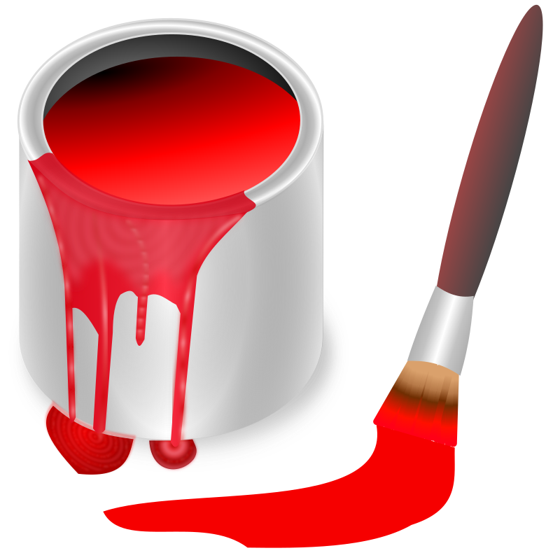 clipart color bucket red Paint Can Clip Art Paint Can Clip Art