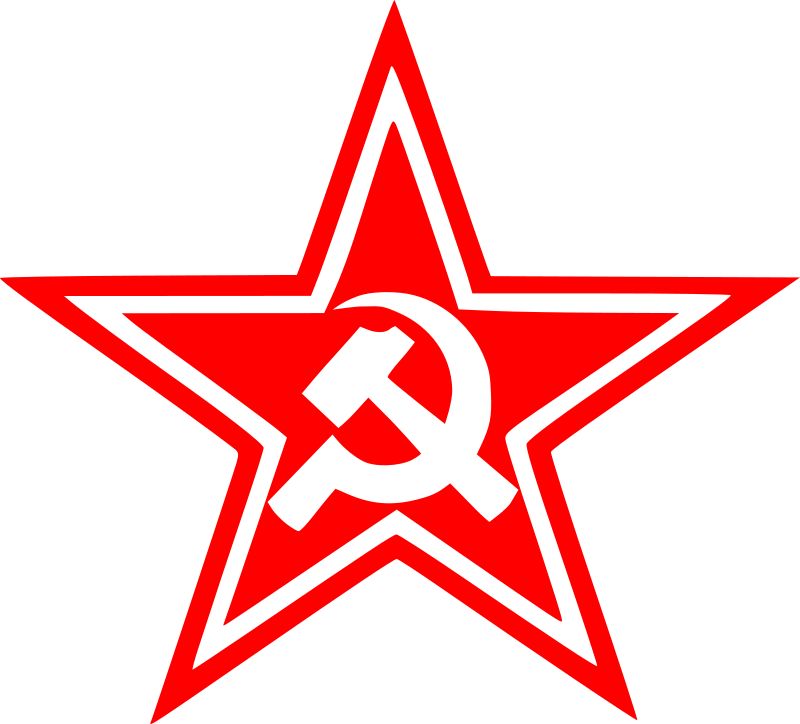sickle and hammer by worker - star with sickle and hammer