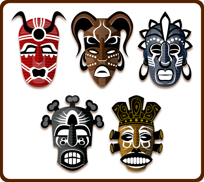 Tribal Masks by Viscious-Speed - set of african masks