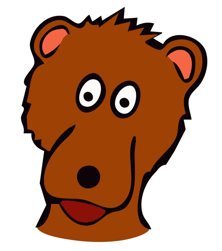 drawn bear by frankes - Bear drawn as a place marker for children