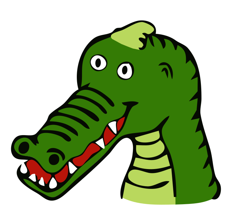Clipart - drawn crocodile