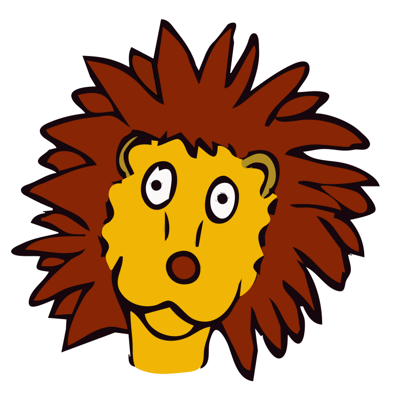 drawn lion by frankes - Lion drawn as a place marker for children