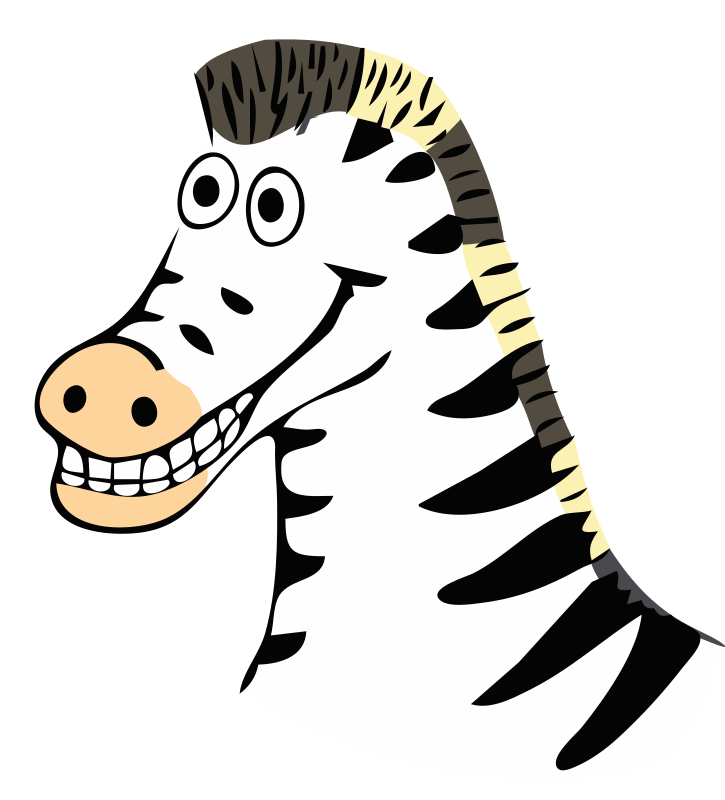 drawn zebra by frankes