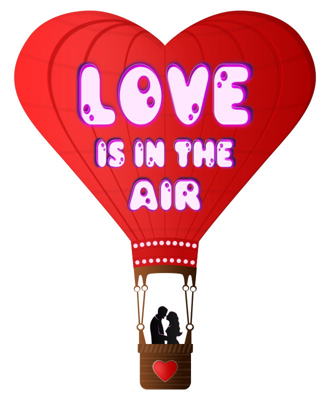 Valentines Day Love Is In The Air by Viscious-Speed - Valentines Day balloon with lettering Love is in the air