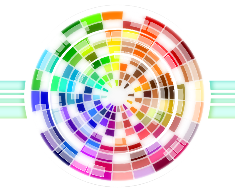 Multicolored Wheel Abstract Background by Viscious-Speed - Abstract Multicolored Wheel Colorful Background,