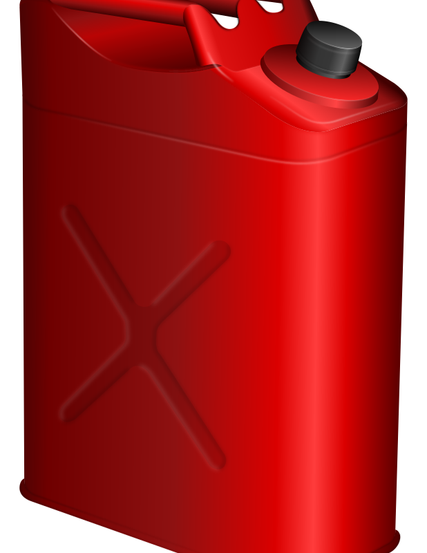 gas can by ivak - A red gas can (jerry can).